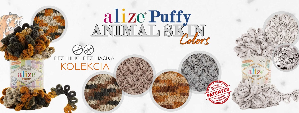 puffy animal skin color