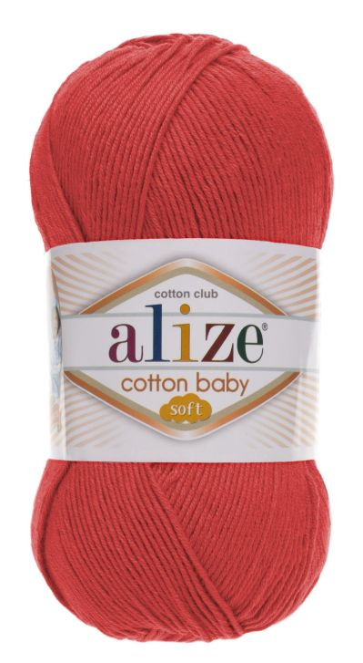 Cotton Baby Soft 259 - tehlová
